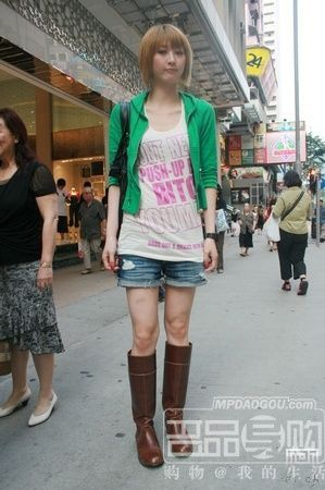 看看时尚前沿 香港街拍美女搭配记